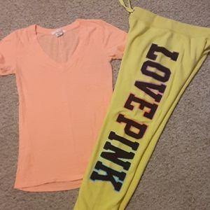 VS PINK sweats & t-shirt